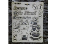 """Высечка из картона 012 Надписи """"Кофе"""""""