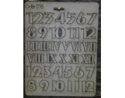 "Высечка из картона 078 ""Цифры от 1 до 12"""