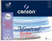 "RR Альбом для акварели  270г 100% целлюлоза Torchon альбом/спираль ""Montval"" Canson 12л 32х41см А3"