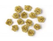 RR Текстильные розочки в ассортименте до 15 мм (1шт.)