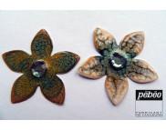 """Рекламный плакат А-3 Два цветка Краска лаковая для всех поверхн.""""Fantasy Prisme"""" 45мл P-1660** Pebeo(Пебео) Франция"""