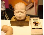 """Рекламный плакат А-3 Голова пупса Полимерный моделин """"Cernit Doll Collection"""" CR-CE0950500***DARWI (Дарви) Бельгия"""