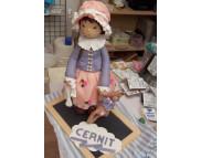 """Рекламный плакат А-3 Авторская кукла Полимерный моделин """"Cernit Doll Collection"""" CR-CE0950500***DARWI (Дарви) Бельгия"""