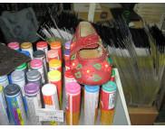 Рекламный плакат А-3 Детские туфли Краска текстильная объемная 3D Design Pen EFFEKT COLOR Javana KR-923**Kreul:(Кройль) Германия