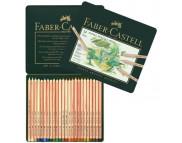 """Набор пастельных каранд.""""Faber-Castell"""" в мет.короб. 24цв /112124"""