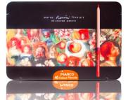 "Набор цв.круглых кедр.каранд..""Renoir FineArt"" Marco (грифель d 3,7мм) в метал.короб. 48цв"