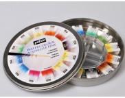 *Набор акварельных красок в кюветах Pebeo (12цв+кисть) в кругл.металл. короб