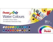 *Набор акварельных красок в тубах Pentel Water Colours 5млх24цв