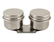 Масленка метал.двойная с крышкой d40мм