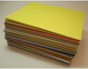 п Бумага цветная 130г около 9х13 около 699шт.в ассортименте