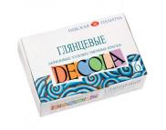 """*Набор красок акрилов.глянц.""""Decola""""в баночках в картон.короб.(6цвх20мл)"""
